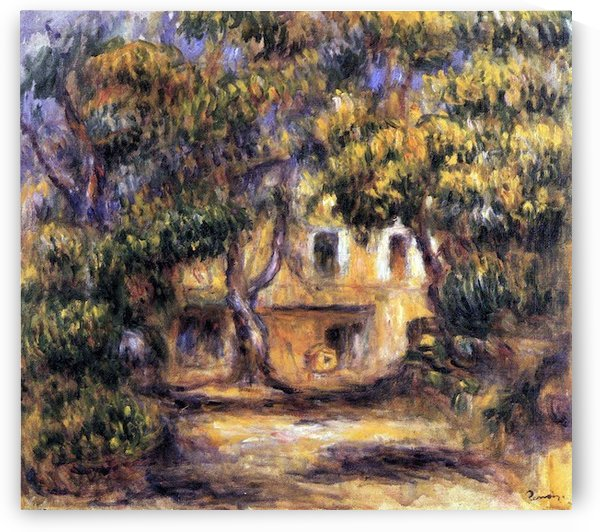 The farm at Les Collettes by Renoir by Renoir