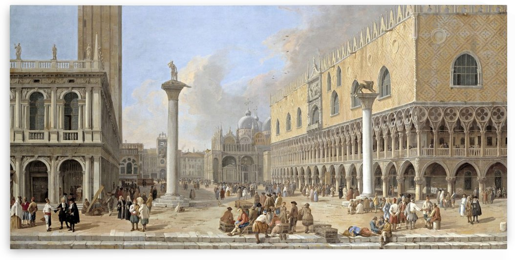 The Piazzetta at Venice by Luca Carlevarijs