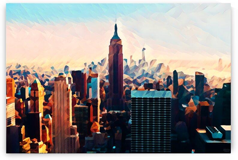 new york city skyline by Pierce Anderson