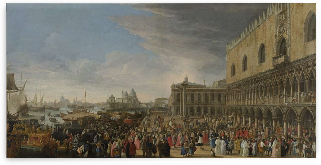The Entry of the French Ambassador in Venice in 1706 by Luca Carlevarijs