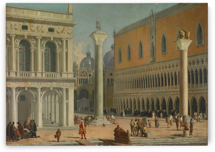 Piazzetta San Marco by Luca Carlevarijs