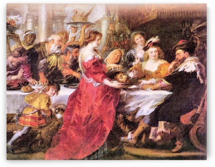 The festival of Herod by Rubens by Rubens