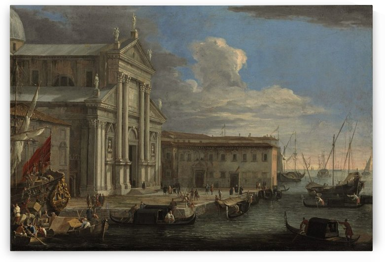 The Church of San Giorgio Maggiore and the Grand Canal, Venice by Luca Carlevarijs