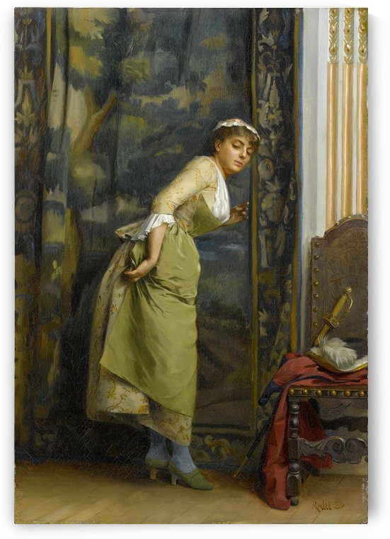 Eavesdropping 1880 by Theodore Ralli