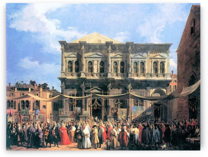 The festival Rochus by Canaletto by Canaletto