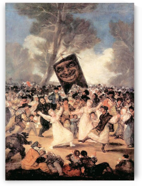 The funeral of Sardina by Goya by Goya