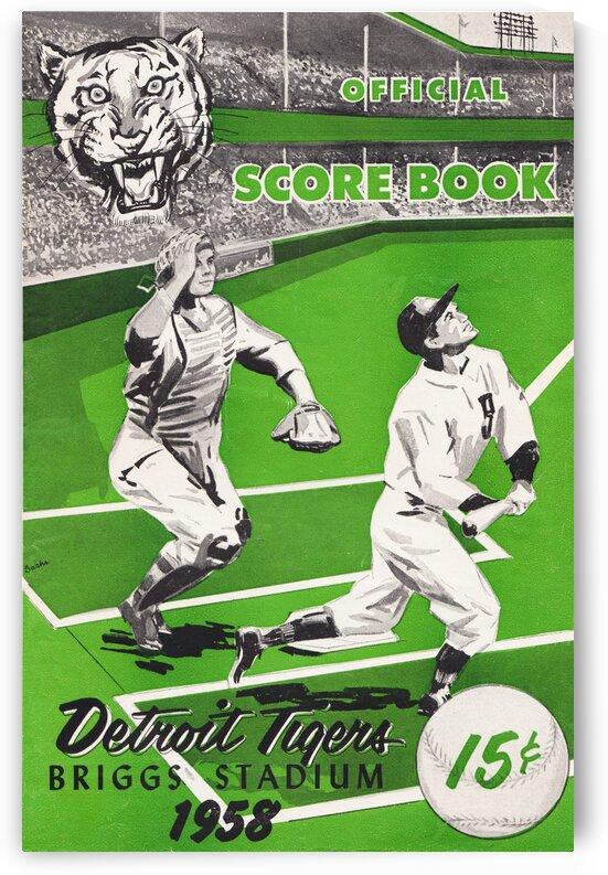1958 Detroit Tigers Scorecard Canvas Art by Row One Brand