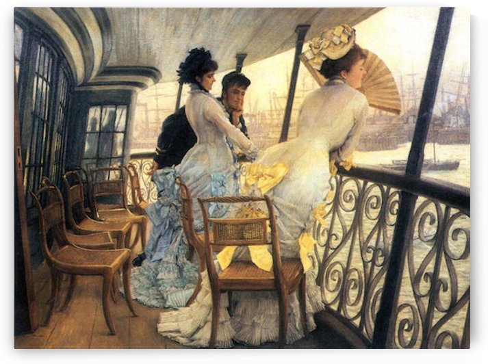 The gallery of the H.M.S. Calcutta by Tissot by Tissot
