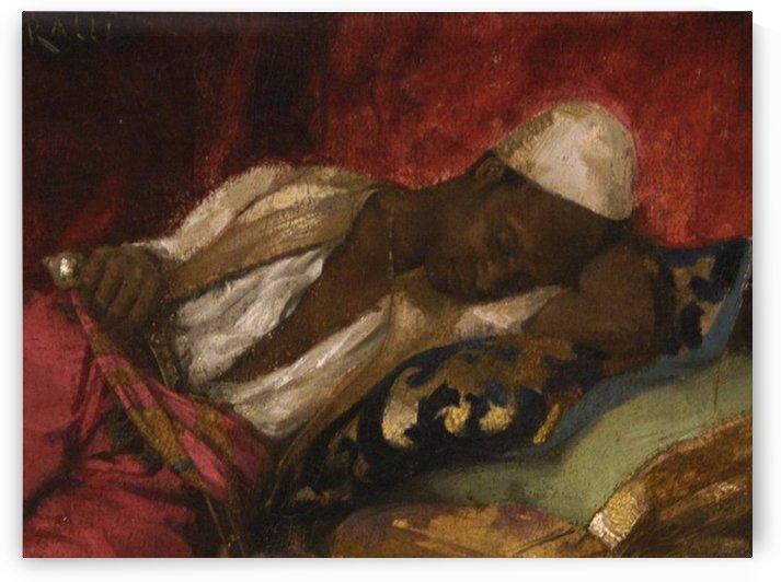 Oriental man sleeping by Theodore Ralli