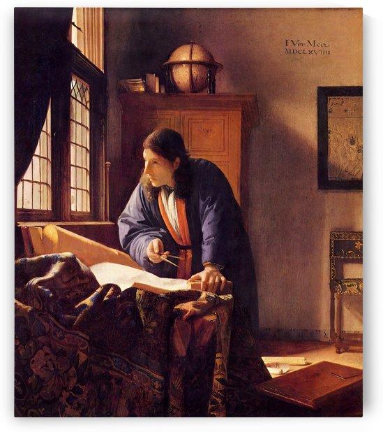 The Geographer by Vermeer by Vermeer
