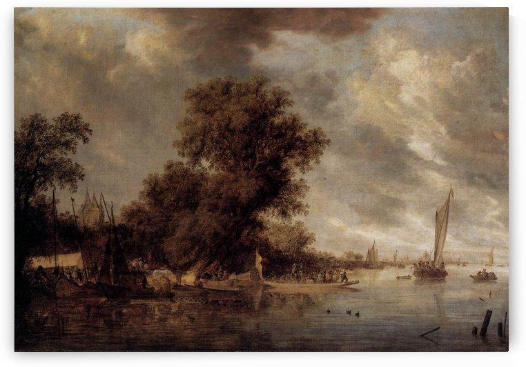 River Landscape at Arnheim by Salomon van Ruysdael