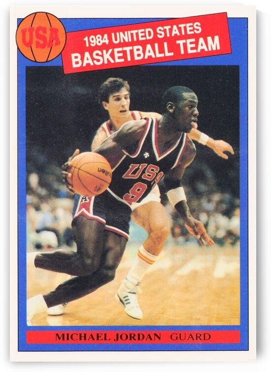 1984 Michael Jordan USA Basketball Poster by Row One Brand