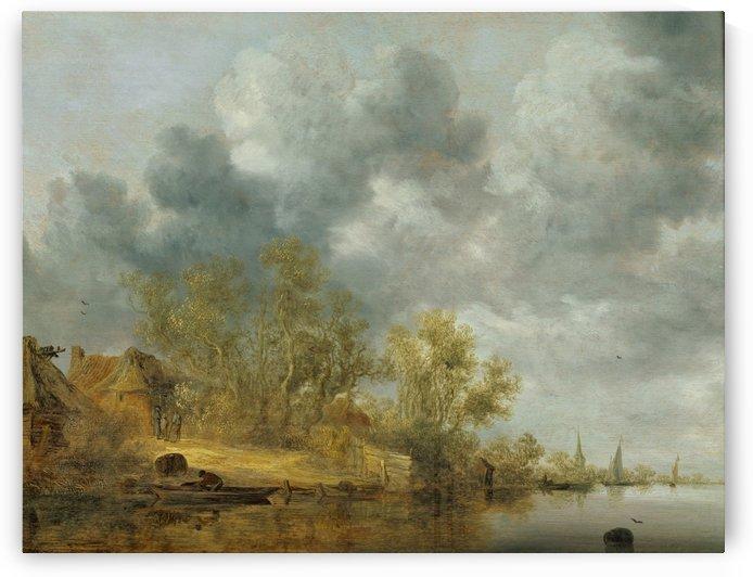 A Dutch Riverbank by Salomon van Ruysdael