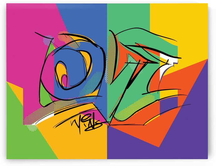 Love Abstract by Work by Carl