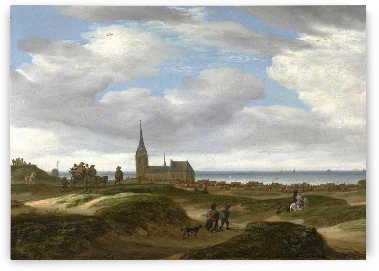 A view of Scheveningen from the dunes Redrik by Salomon van Ruysdael