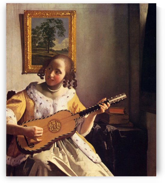 The guitar player by Vermeer by Vermeer