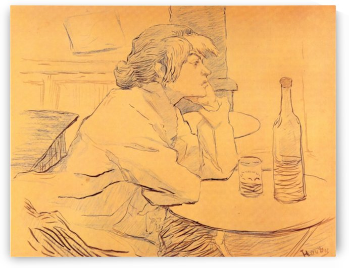 The Hangover by Toulouse-Lautrec by Toulouse-Lautrec