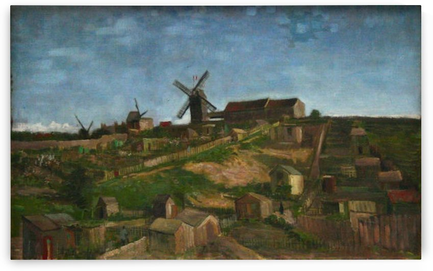 The hill of Monmartre by Van Gogh by Van Gogh