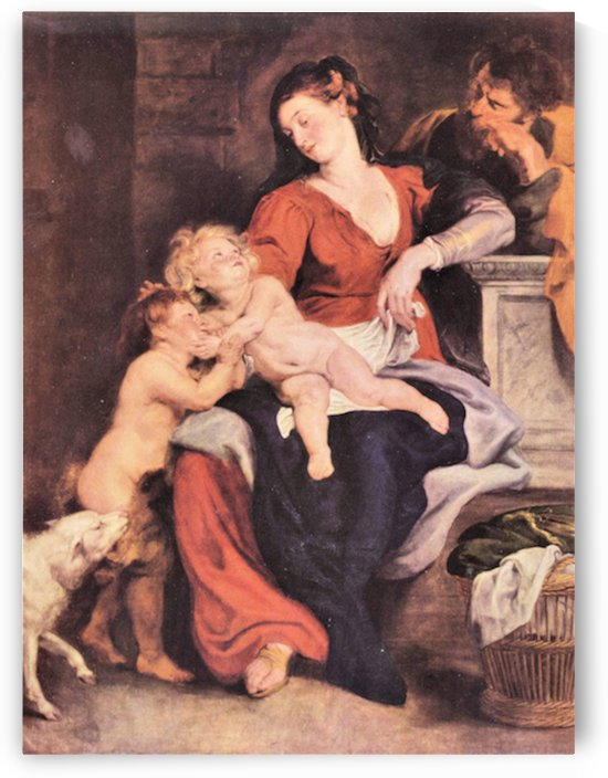 The Holy Family with the basket by Rubens by Rubens