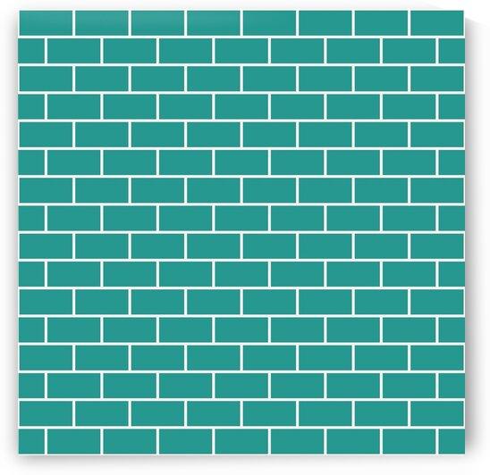 Ocean Blue Brick Pattern by rizu_designs