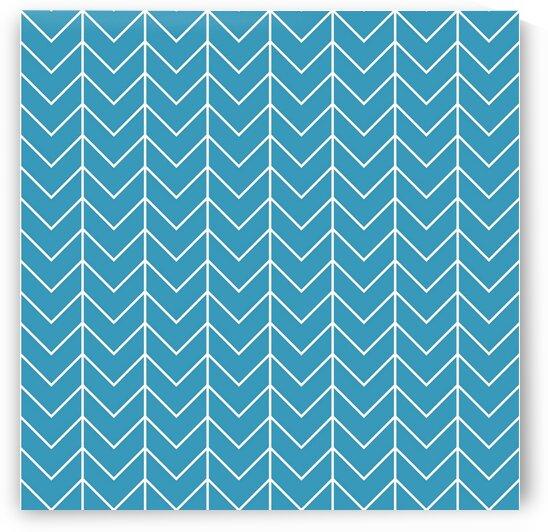 Turquoise Chevron Pattern by rizu_designs