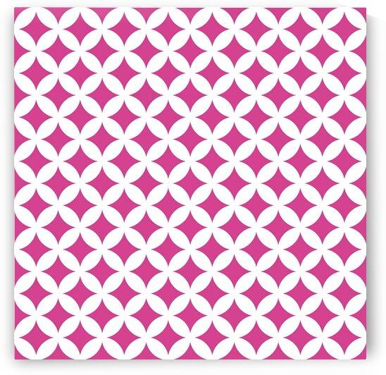 White and Pink Retro Circle Pattern by rizu_designs