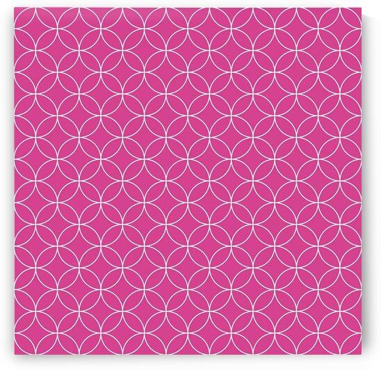 Pink Retro Circle Pattern by rizu_designs