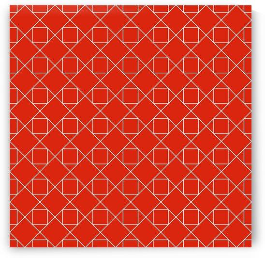 Orange Geometric Pattern by rizu_designs