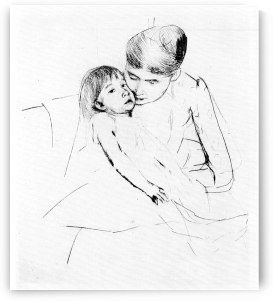 The ill child by Cassatt by Cassatt