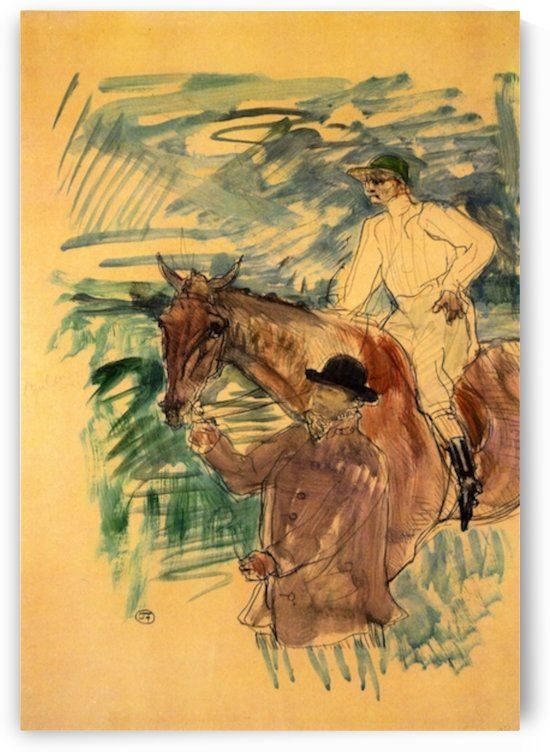 The Jockey 3 by Toulouse-Lautrec by Toulouse-Lautrec