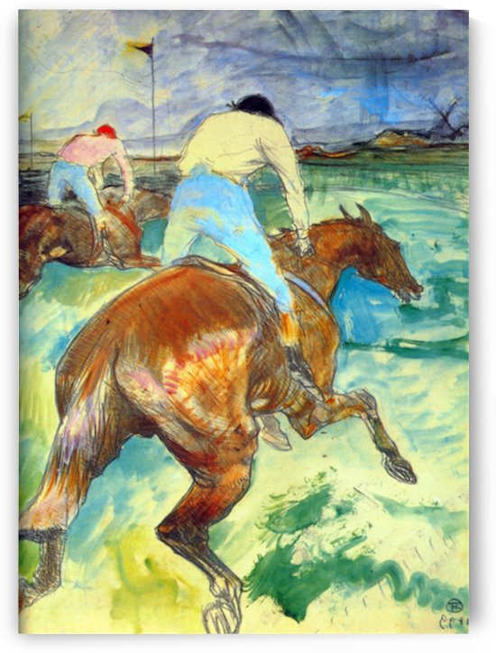 The Jockey by Lautrec 1899 by Toulouse-Lautrec