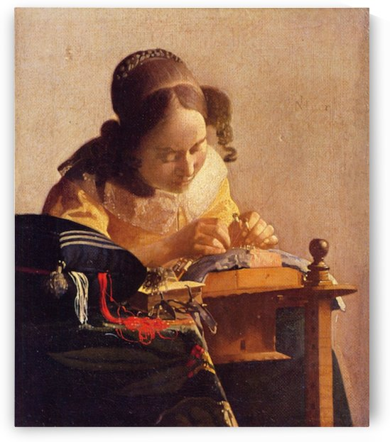 The Lacemaker  by Vermeer by Vermeer