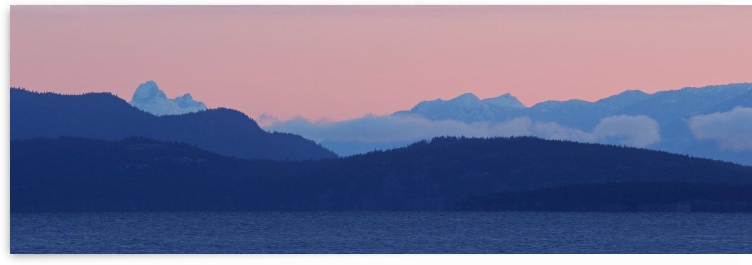 Pink And Blue by Randy Hall by Randy Hall