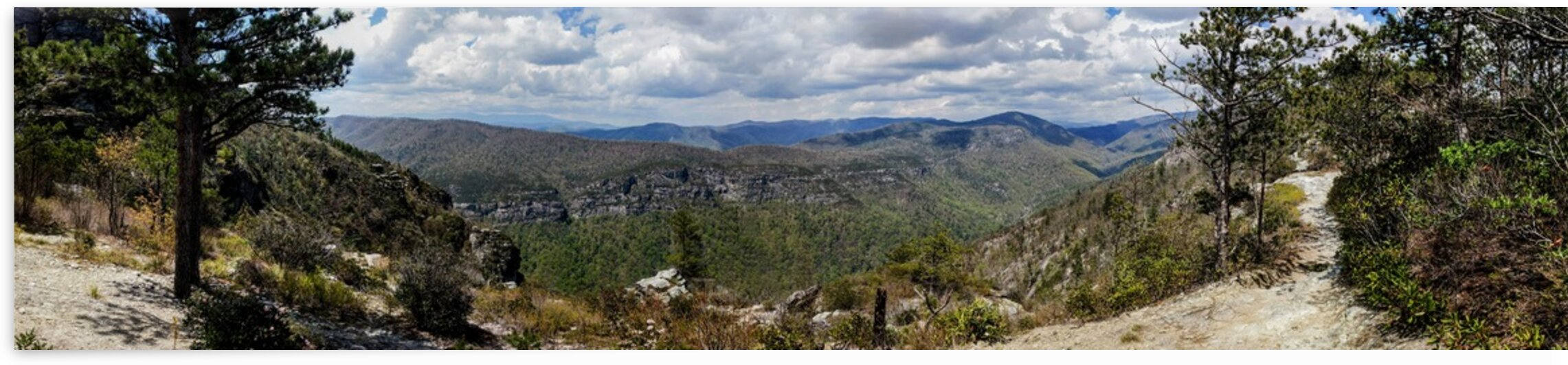 Linville Gorge Panorama by Adam Mobley