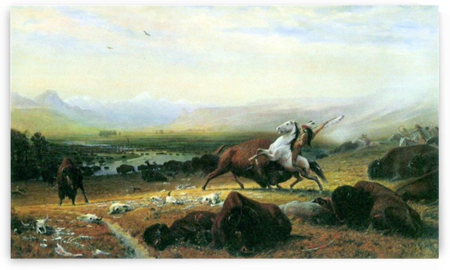 The last Buffalo by Bierstadt by Bierstadt