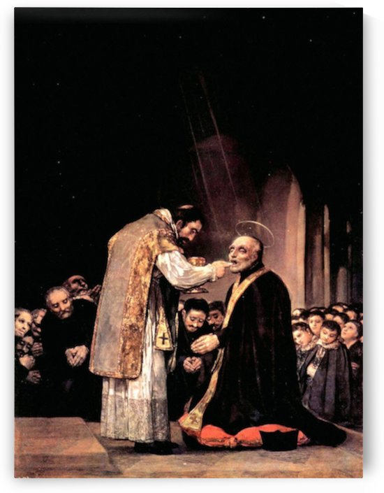 The last communion of St. Joseph of Calasanza by Goya by Goya