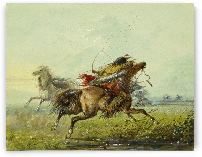 Dodging an Arrow by Alfred Jacob Miller