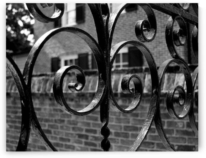 Iron Gate in Charleston - B&W by Adam Mobley