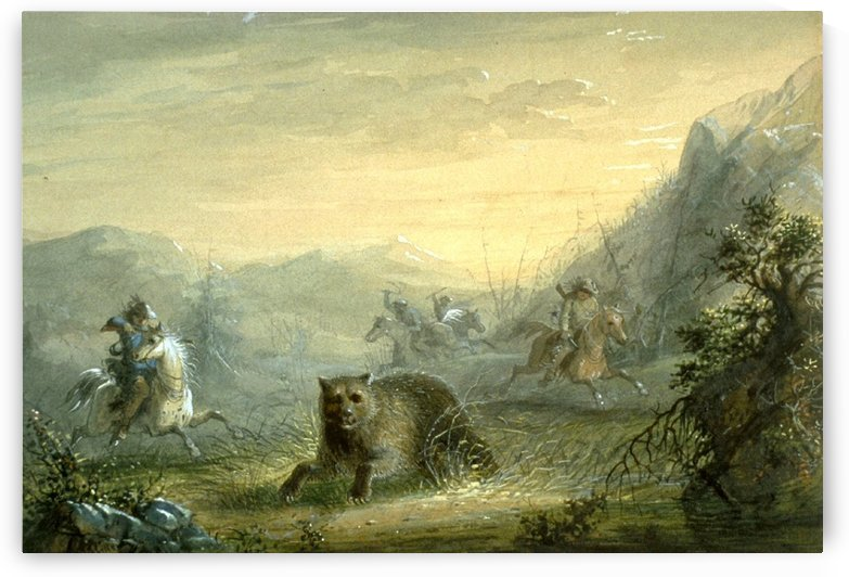 Hunting The Bear by Alfred Jacob Miller