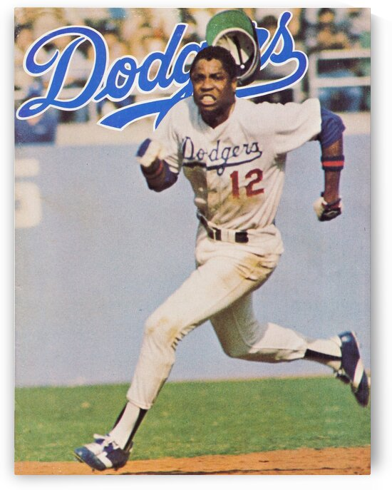 1978 Los Angeles Dodgers Dusty Baker Poster by Row One Brand