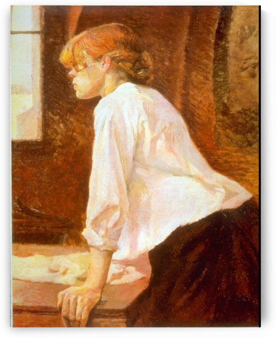 The Laundress by Toulouse-Lautrec by Toulouse-Lautrec