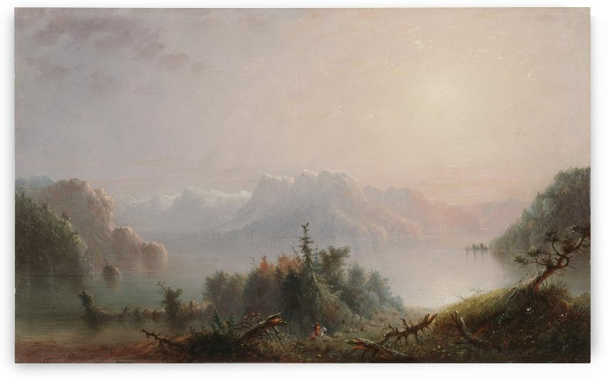 The Lake Her Lone Bosom Expands to the Sky by Alfred Jacob Miller