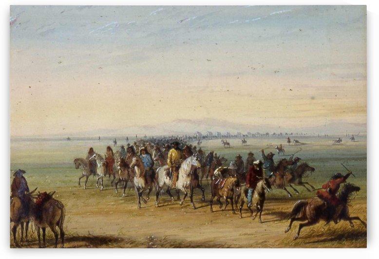 Caravan en Route by Alfred Jacob Miller