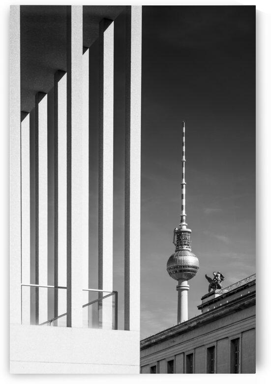 BERLIN Television Tower & Museum Island   Monochrome by Melanie Viola