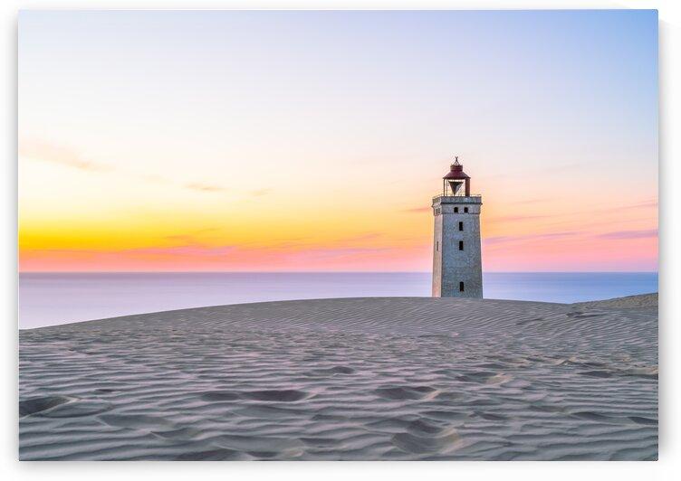 Rubjerg Knude Lighthouse at sunrise by Adrian L Austin