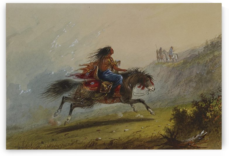 An Indian girl on horseback by Alfred Jacob Miller