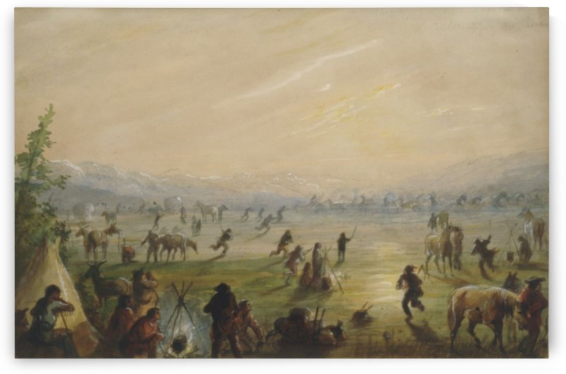 Attrapez des Chevaux by Alfred Jacob Miller