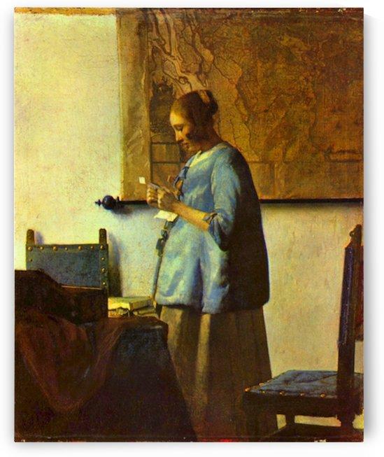 The letter reader by Vermeer by Vermeer