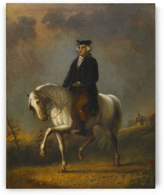 George Washington at Mount Vernon by Alfred Jacob Miller