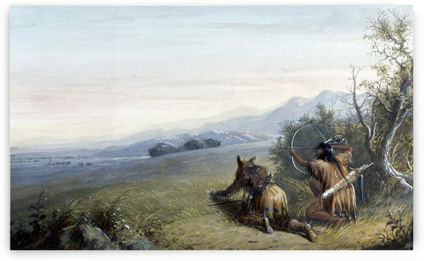 Indian hunters by Alfred Jacob Miller